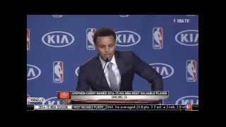 Steph Curry Thanks Brother Seth During MVP Speech