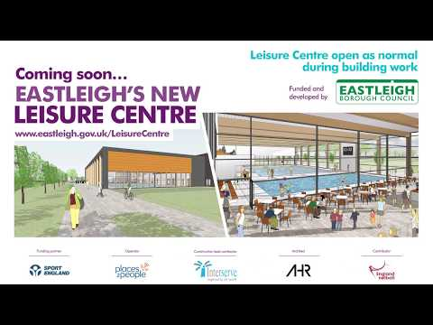 Eastleigh's new leisure centre: fly-through update