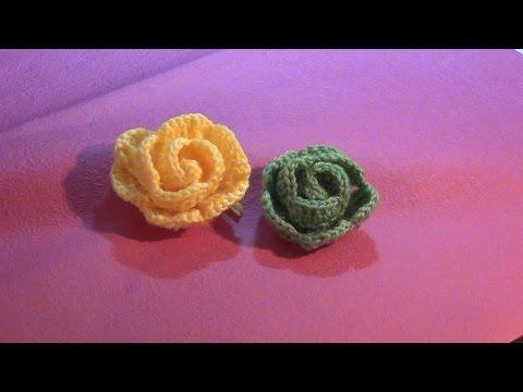 Hướng dẫn móc hoa len: Mẫu hoa hồng xoắn ốc