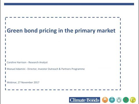 Green Bond Pricing in the Primary Market April - June 2017