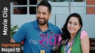 म कसै सँग डराउदिन  - New Nepali Movie RADHA Scene।  Jeevan Luitel, Sanchita Luitel