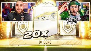 20 ICON PACK CHALLENGE VS BATESON!! YOU WON'T BELIEVE THIS!! FIFA 21
