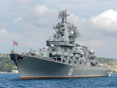 Russian Navy - Cruiser Moskva 121, NEVER SLEEPS.