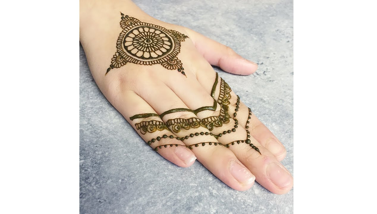 Henna Mehndi Mandala Design Tutorial Youtube