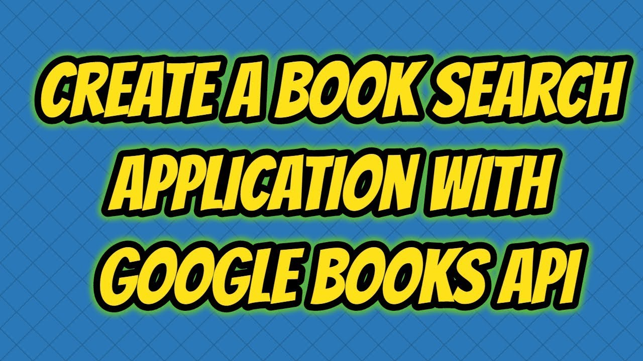 Google Books API Example - Book Search Application