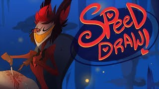 SPEED DRAW- Alastor (Hazbin Hotel)-VivziePop