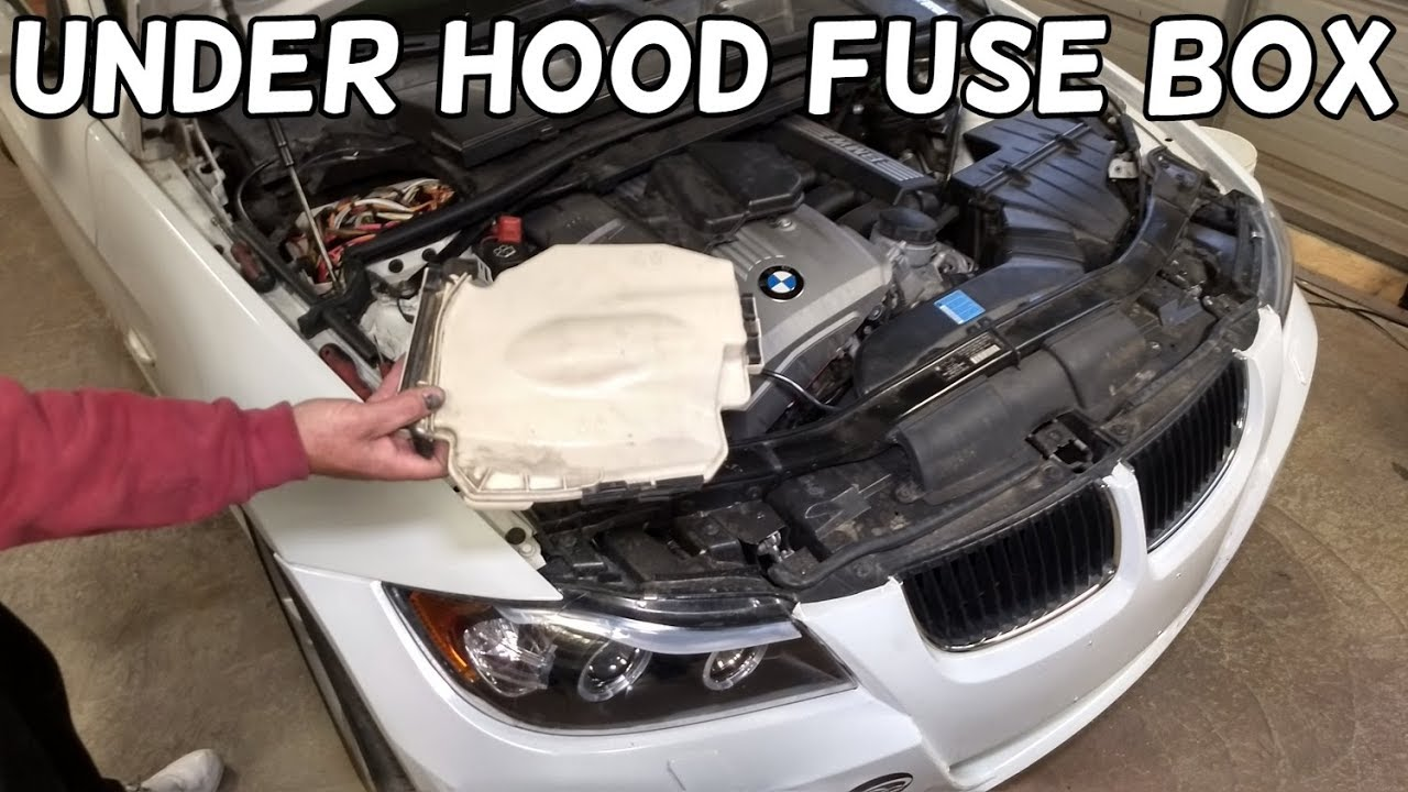 how to open the engine fuse box on bmw e90 e91 e92 e93. Black Bedroom Furniture Sets. Home Design Ideas