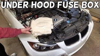 HOW TO OPEN THE ENGINE FUSE BOX ON BMW E90 E91 E92 E93 - YouTubeYouTube