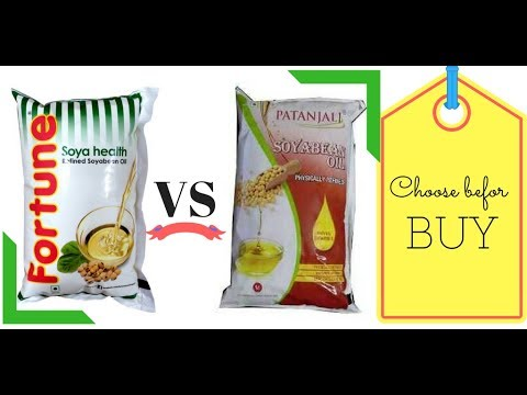 Patanjali Soyabean Refined Oil Vs Fortune Soyabean Refined Oil | Review in Hindi