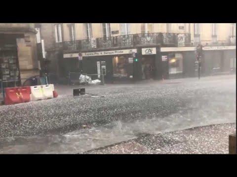 À Bordeaux, les images de la violente tempête de grêle qui s'est abattue sur la ville