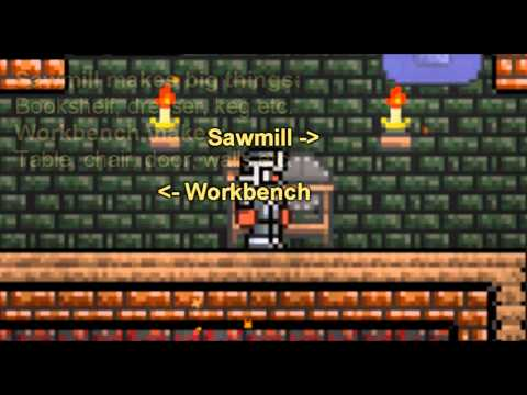 Terraria - Sawmill 1.0.6.1! How To Make The Advanced Items
