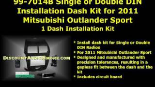 99-7014B 2011 Mitsubishi Outlander Sport or Double DIN Dash Kit Metra 997014b 99 7014b