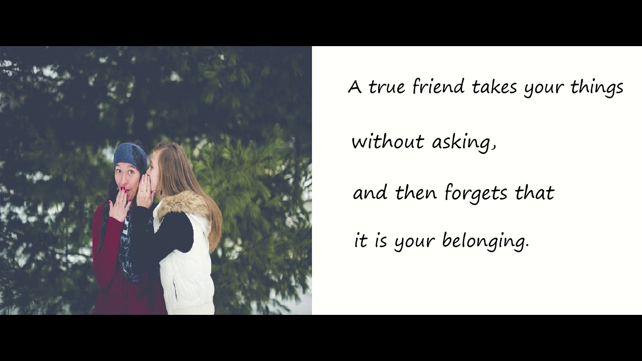 Poem on A True Friend