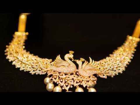 Latest Designer Necklace - Long chains - Pendants - Gold Studs design Jewelery - Hybiz.tv