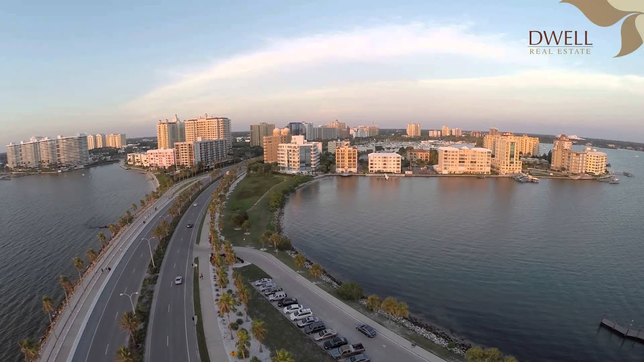 downtown sarasota florida drone video doovi