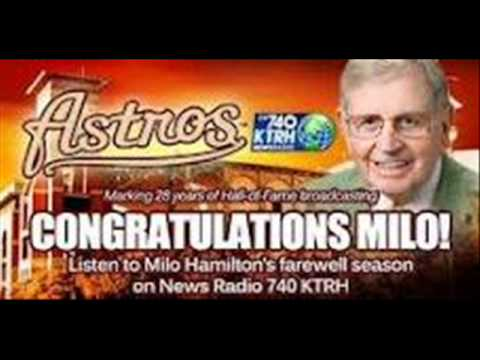 KTRH talks to Astros Ambassador Milo Hamilton