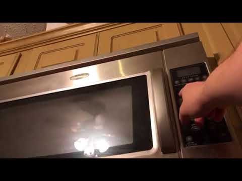 how to set the clock on a whirlpool microwave