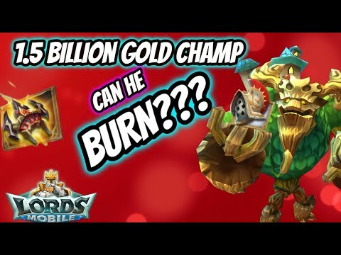 Lords Mobile - Can A 1.5B Might Player In Gold Champ Gear Burn???