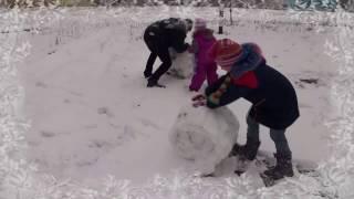Снеговик Трансформер ))) Веселимся в снегу