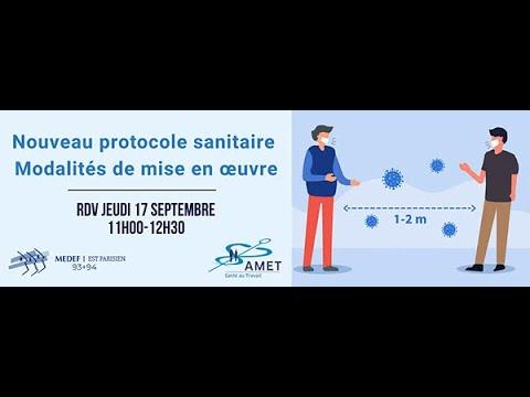 17 septembre 2020 -  Protocole sanitaire
