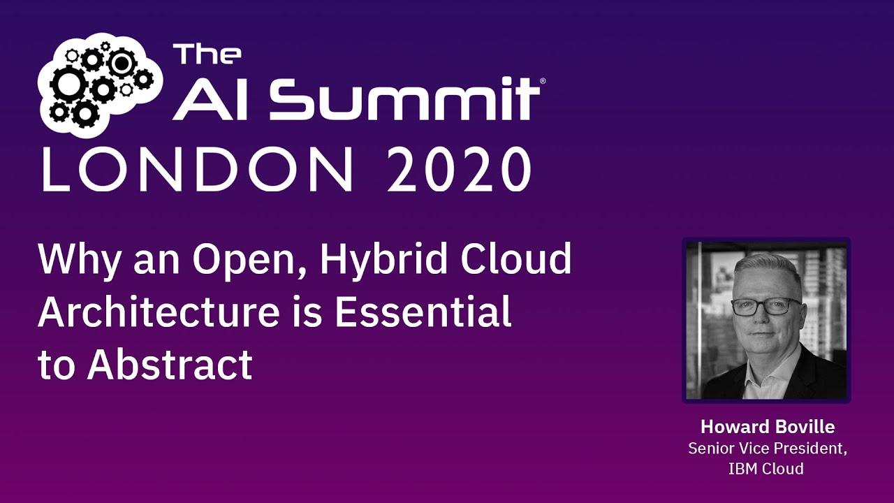 IBM Keynote at Virtual AI Summit London 2020