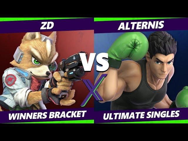 Smash Ultimate Tournament - ZD (Fox) Vs. Alternis (Little Mac) - S@X 291 SSBU Winners Round 4