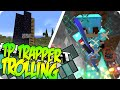 Minecraft KILLING TP TRAPPERS ON MY SERVER (Hacker Trolling Bonus)