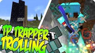 Minecraft KILLING TP TRAPPERS ON MY SERVER (Hacker Trolling Bonus)