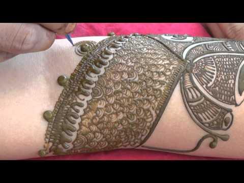 Full Bridal Henna Mehndi Design:Latest 2014 Indian Mehendi Tutorials