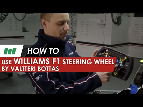 F1 driver Valtteri Bottas using the Williams Formula 1 Steering Wheel | HOW TO