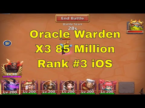 Castle Clash Challenge A Warden Oracle Warden Rank #3 IOS