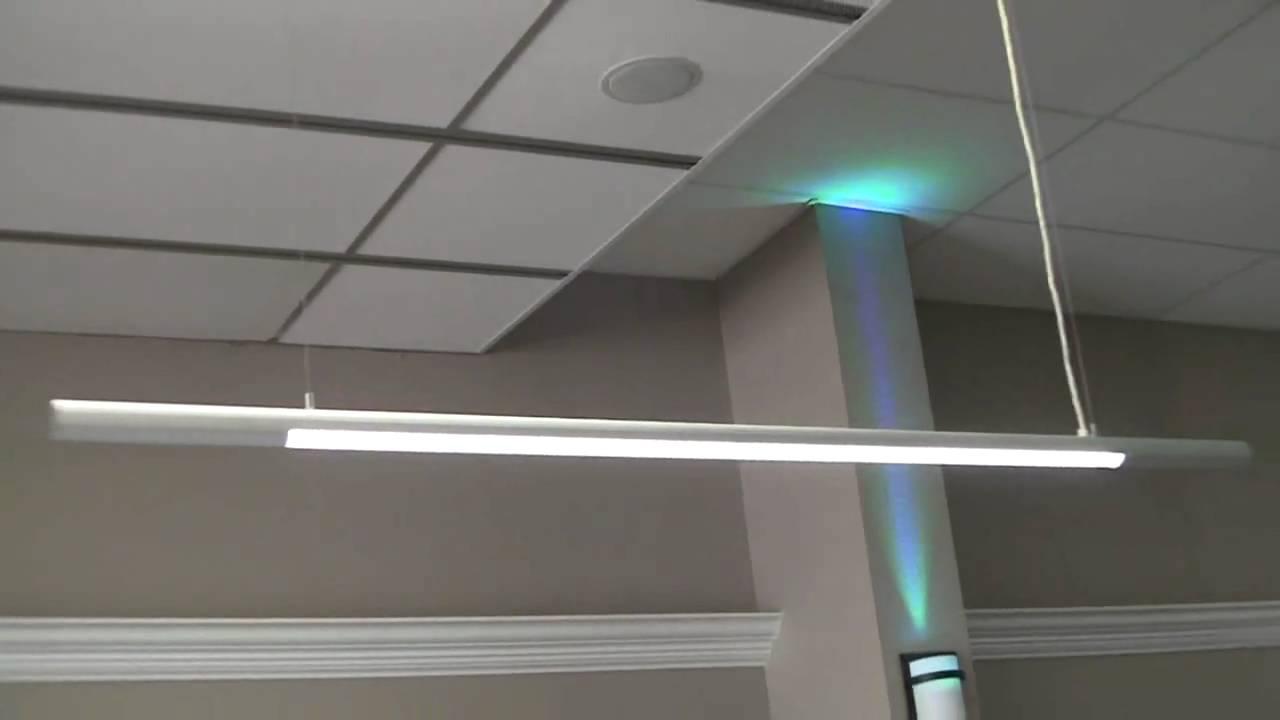 Slim LED Hanging Pendant Lights for Office or Garage ...