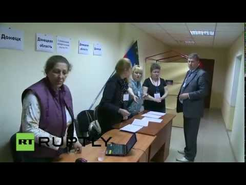 LIVE Polling stations close in Donetsk