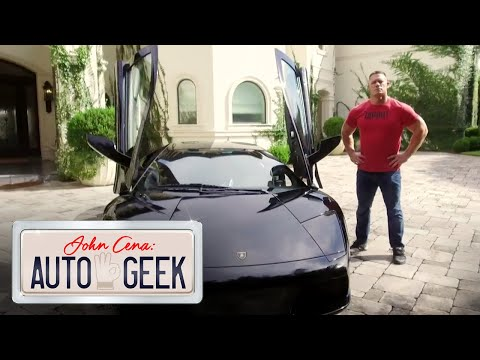 Bromance between John Cena, Dean Ambrose and a Batmobile Lamborghini?! - John Cena: Auto Geek