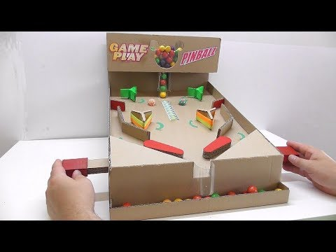 Pinball Gumball Machine from cardboard Best game with gum