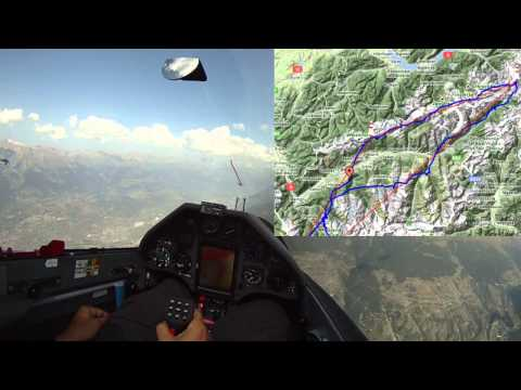 Gliding from Serres to Furkapass in a Ventus 2CXM