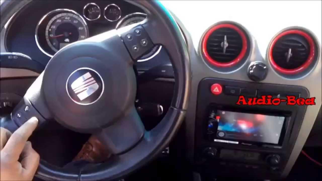 controles de volante de seat ibiza fr con radio 2 din audio bea youtube. Black Bedroom Furniture Sets. Home Design Ideas
