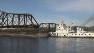 Mississippi River Barge Towboats, Wisconsin Region,...