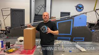 Mike Patey and GripLockTies Releasable Rubber-Lined ZipTies