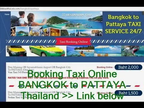 BANGKOK to PATTAYA Booking Taxi Online