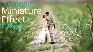 MINIATURE EFFECT photoshop tutorial | wedding photo