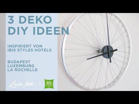 3 Deko Diy Mit Ibis Styles Upcycling Ideen Uhr Aus Felge