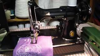 Singer Featherweight 221 sewing machine attachments & buttonhole tutorial
