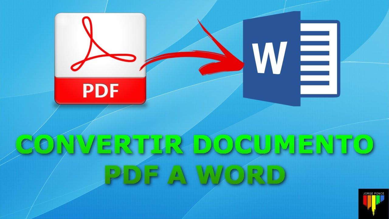 CÓMO CONVERTIR UN ARCHIVO PDF A WORD SIN PROGRAMAS