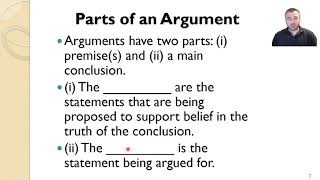 Arguments their parts, types, and criteria for evaluating them part I