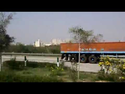 India, Tourism in India, Agra to Delhi road view, India road view