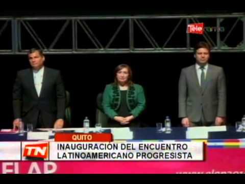 Inauguración del encuentro latinoamericano progresista