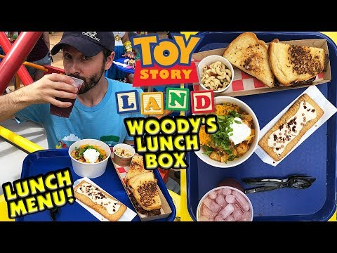 Woody's Lunch Box Lunch Menu - Toy Story Land! - Disney's Hollywood Studios