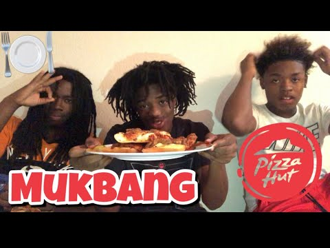 PIZZA HUT MUKBANG!!! WITH MY BOYS TAY AND LIL ERNEST 💉🔥