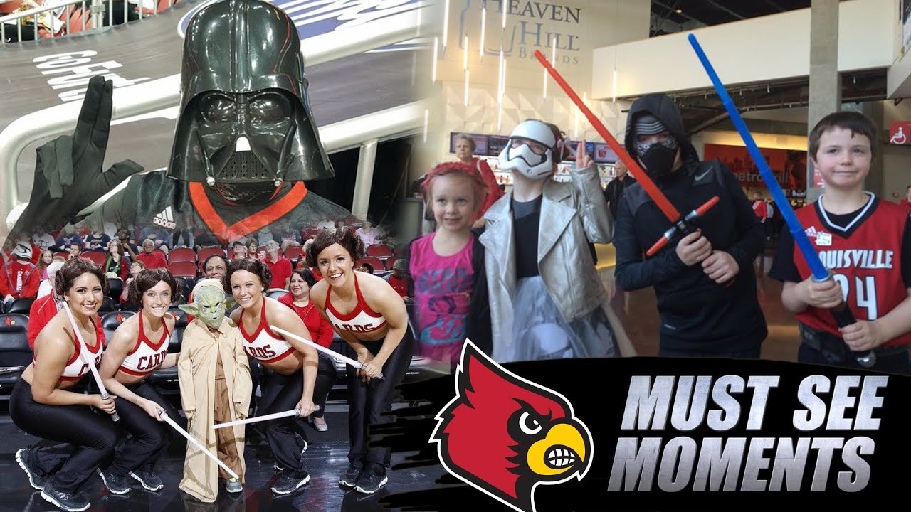 Star Wars Day at Louisville! The Force Is With Cards Fans In Costumes  sc 1 st  YouTube & Star Wars Day at Louisville! The Force Is With Cards Fans In ...
